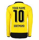 2015-16 Dortmund Home Long Sleeve Shirt (Your Name) -Kids