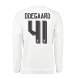 2015-16 Real Madrid Long Sleeve Home Shirt (Odegaard 41) - Kids