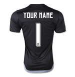 2015-16 Real Madrid Home Goalkeepers Shirt (Your Name) -Kids