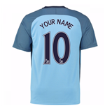 2016-17 Man City Home Shirt (Your Name) -Kids
