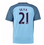 2016-17 Man City Home Shirt (Silva 21) - Kids