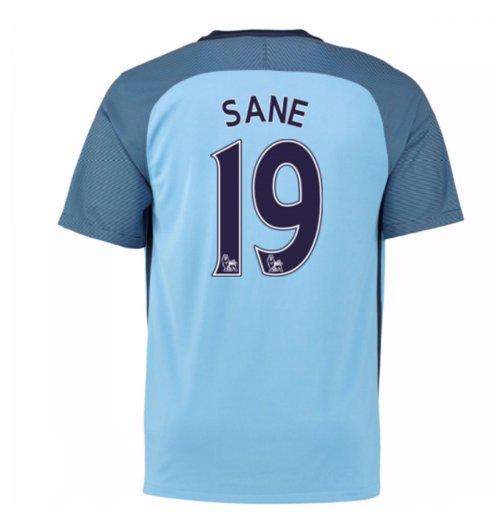 best loved e8692 77ec4 2016-17 Man City Home Shirt (Sane 19) - Kids