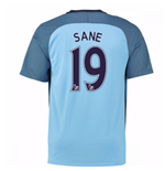 2016-17 Man City Home Shirt (Sane 19) - Kids