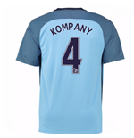 2016-17 Man City Home Shirt (Kompany 4) - Kids