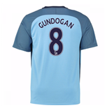2016-17 Man City Home Shirt (Gundogan 8) - Kids