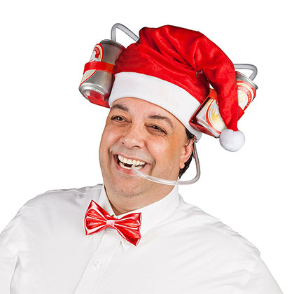 Santa Beer Drinking Hat