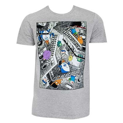 ADVENTURE TIME Escher Stairs Tee Shirt