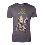 MARVEL COMICS Guardians of the Galaxy Vol. 2 Men's I am Groot T-Shirt, Medium, Dark Grey