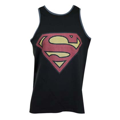 SUPERMAN Black Tank Top