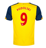 2014-15 Arsenal Away Shirt (Podolski 9)