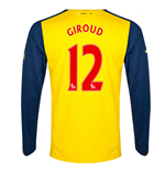 2014-15 Arsenal Long Sleeve Away Shirt (Giroud 12) - Kids