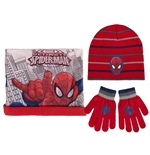 Spiderman Gloves, Beanie and Neck warmer Set