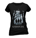 Supernatural Ladies T-Shirt Group Outline
