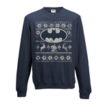 Batman - Fair Isle Logo - Unisex Crewneck Sweatshirt Blue