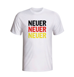 Manuel Neuer Germany Player Flag T-shirt (white) - Kids