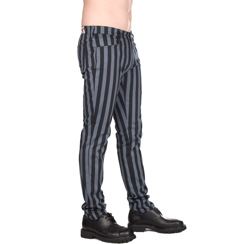 Black Pistol Close Pants Stripe Denim