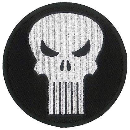 PUNISHER Iron On Patch