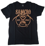 Sons Of Anarchy T-Shirt SAMCRO Chained Brown