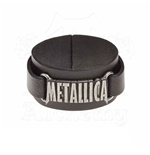 Metallica Leather Wriststrap Logo