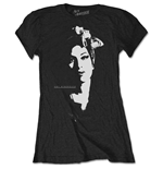 Amy Winehouse Ladies Tee: Scarf Portrait