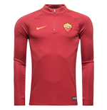 2016-2017 AS Roma Nike Training Drill Top (Team Red)