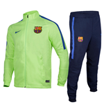 2016-2017 Barcelona Nike Squad Woven Tracksuit (Ghost Green)