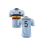 2016-2017 Belgium Away Shirt (Vertonghen 5)