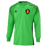 2016-2017 Belgium Home Goalkeeper Adidas Football Shirt