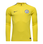 2016-2017 Man City Nike Training Drill Top (Yellow)