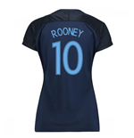 2017-18 England Away Womens Shirt (Rooney 10)