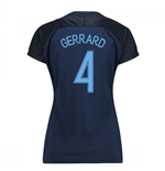 2017-18 England Away Womens Shirt (Gerrard 4)