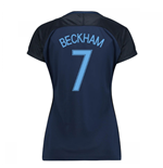 2017-18 England Away Womens Shirt (Beckham 7)