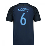 2017-18 England Away Shirt (Moore 6)