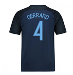 2017-18 England Away Shirt (Gerrard 4)