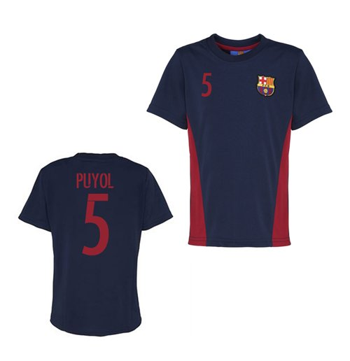 Official Barcelona Training T-Shirt (Navy) (Puyol 5)