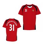 Official Man United Training T-Shirt (Red) (Schweinsteiger 31)