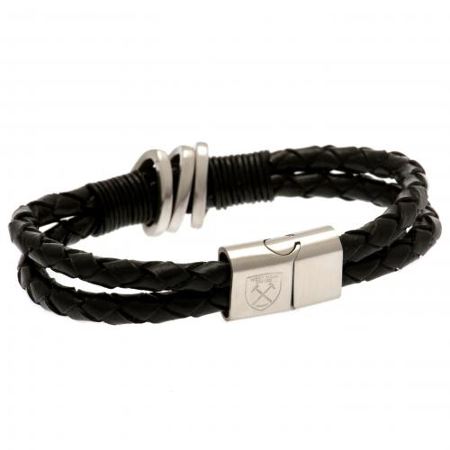 West Ham United F.C. Leather Bracelet