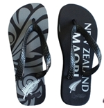 All Blacks Flip Flops Black Maori
