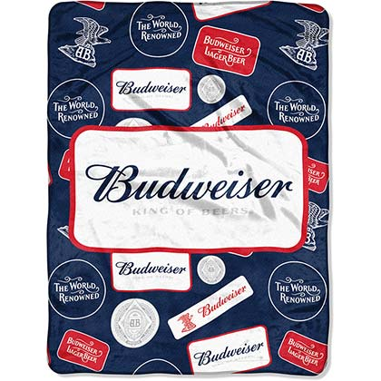 BUDWEISER Plush Throw Blanket