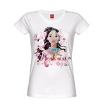 Pocahontas Ladies T-Shirt Indian Flower