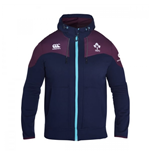 2016-2017 Ireland Rugby Training Full Zip Hoody (Peacot)
