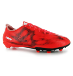 adidas F10 FG Mens Football Boots (Red-White-Black)