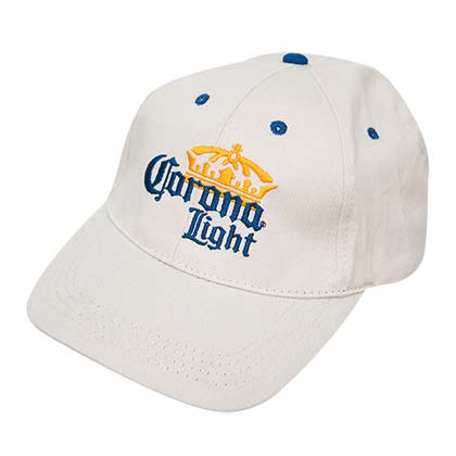 Corona Light Crown Logo Beige Hat