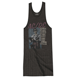 AC/DC Ladies Tee Dress: Dirty Deeds Done Dirt Cheap with Tassels