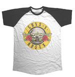 Guns N' Roses Mens Raglan Tee: Circle Logo