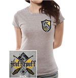 Harry Potter - House Hufflepuff - Women Fitted T-shirt Grey