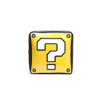 NINTENDO Super Mario Bros. Question Mark Box Shaped Backpack, Yellow/Black