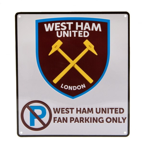 West Ham United F.C. No Parking Sign