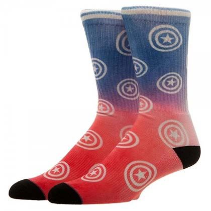 CAPTAIN AMERICA Ombre Crew Socks