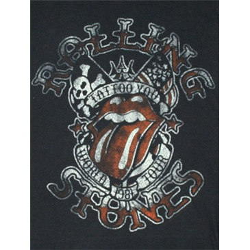 Rolling Stones Tattoo You Tour Black Juniors Graphic Tee Shirt
